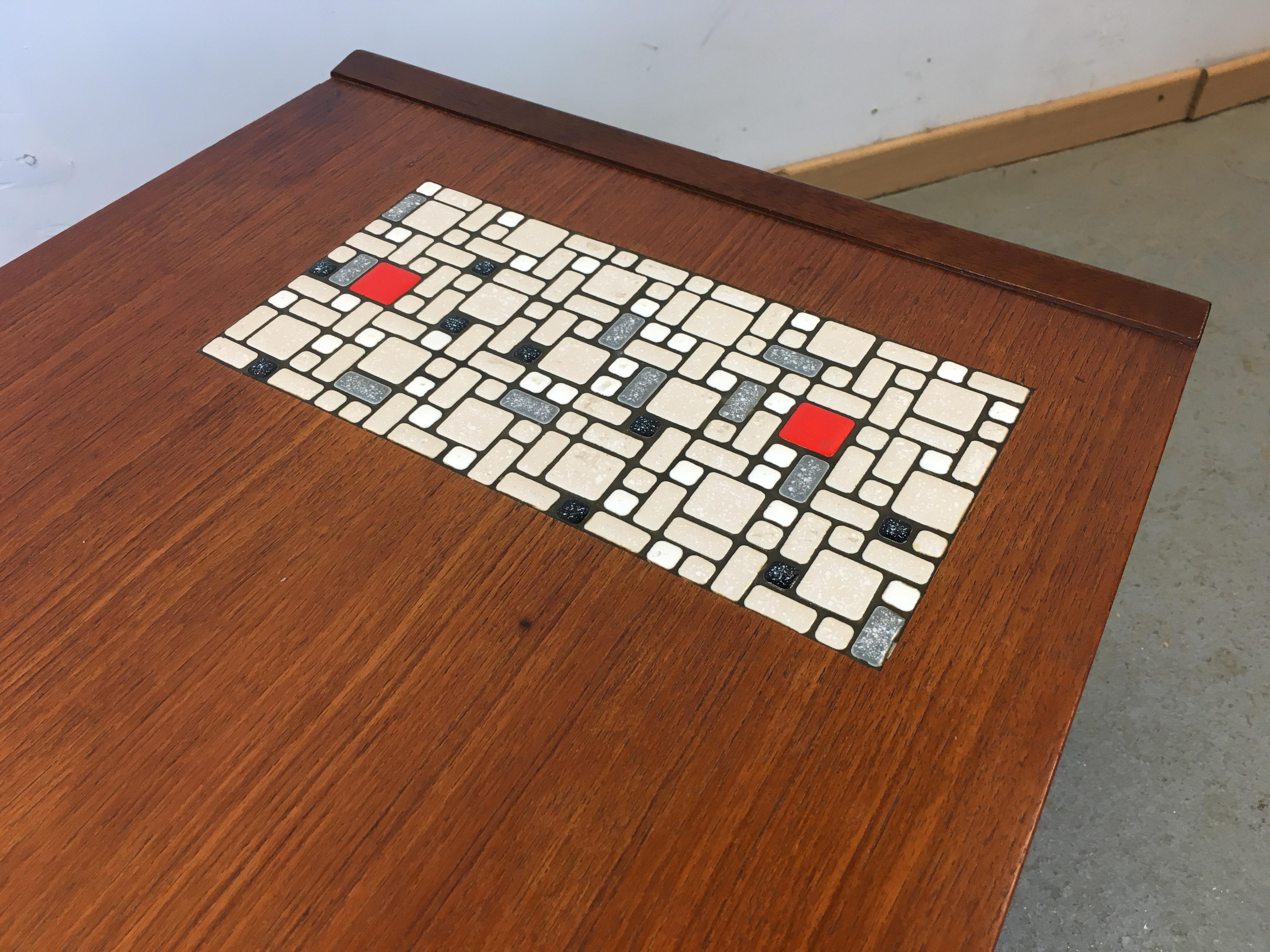 table basse mosa que ann e 60 coffee table mosaic louis. Black Bedroom Furniture Sets. Home Design Ideas