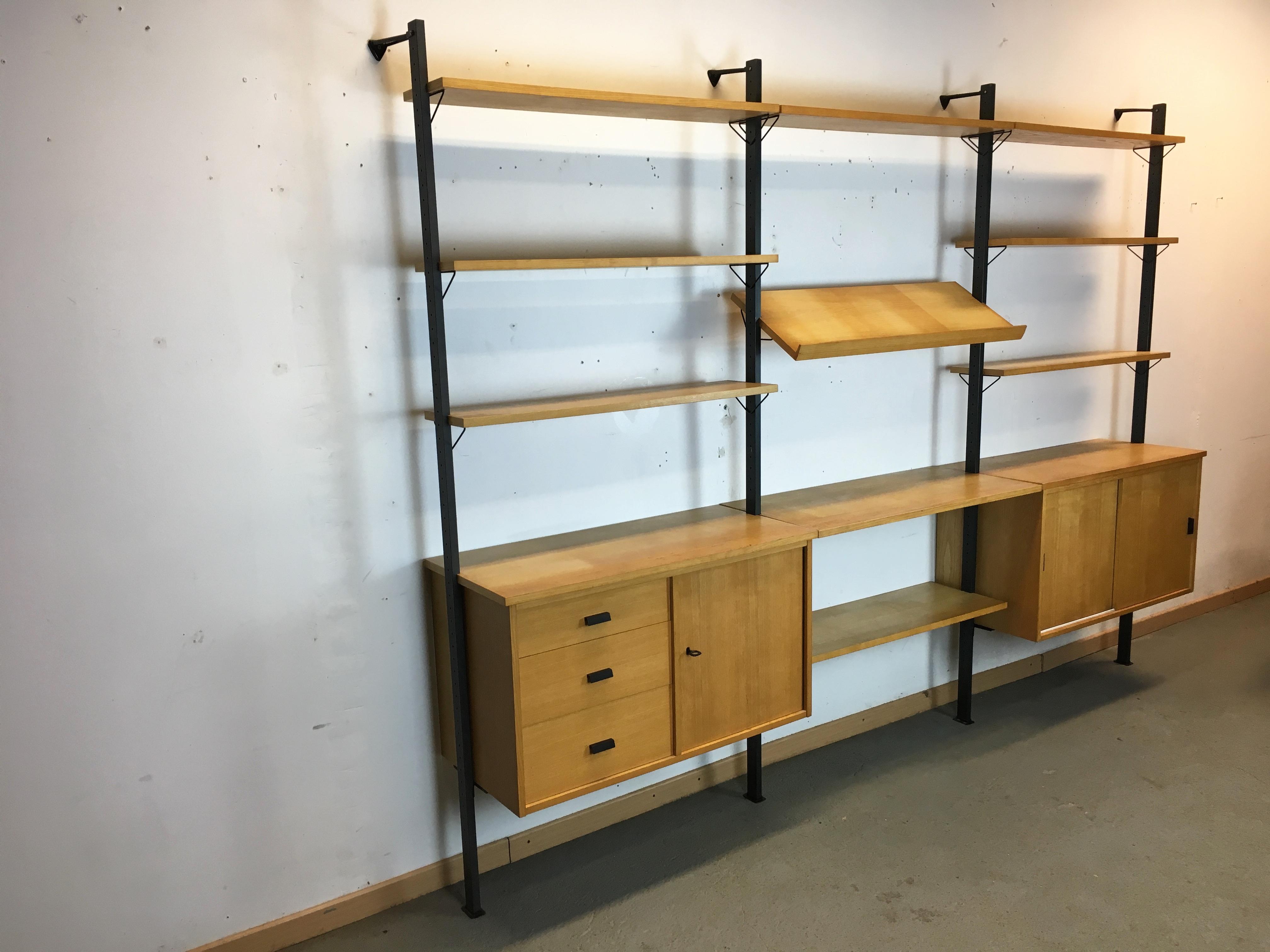 etag re biblioth que scandinave pira ann e 60 pira shelf system wall unit. Black Bedroom Furniture Sets. Home Design Ideas