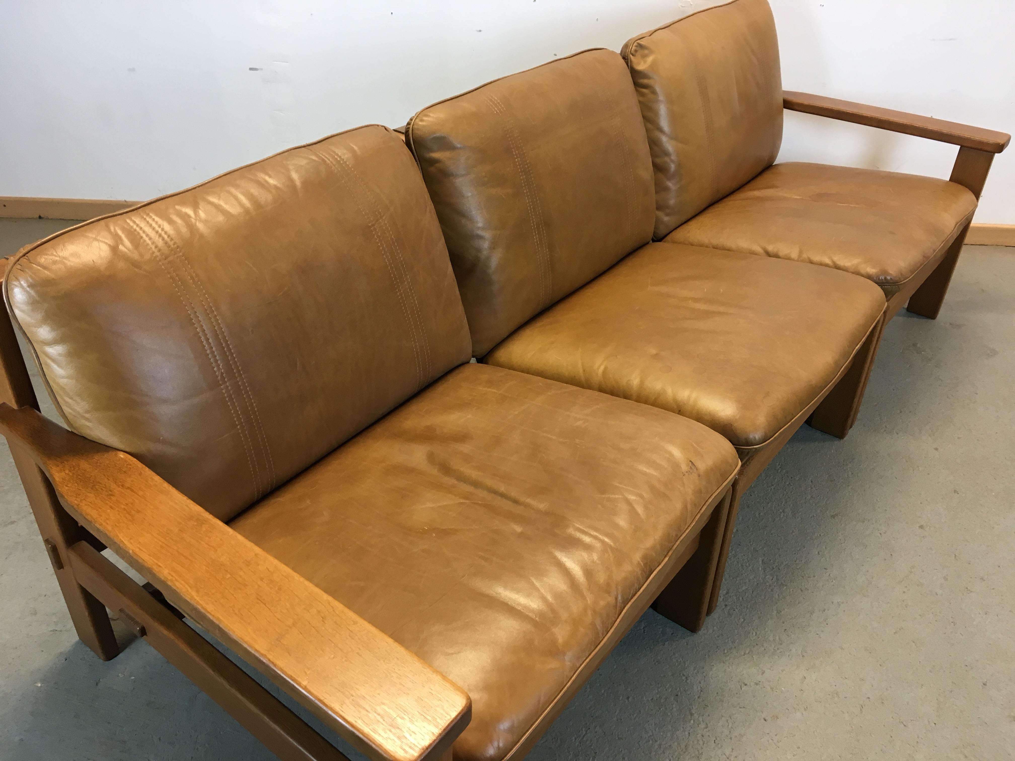 canap cuir modulable ann e 60 vintage sofa modular. Black Bedroom Furniture Sets. Home Design Ideas