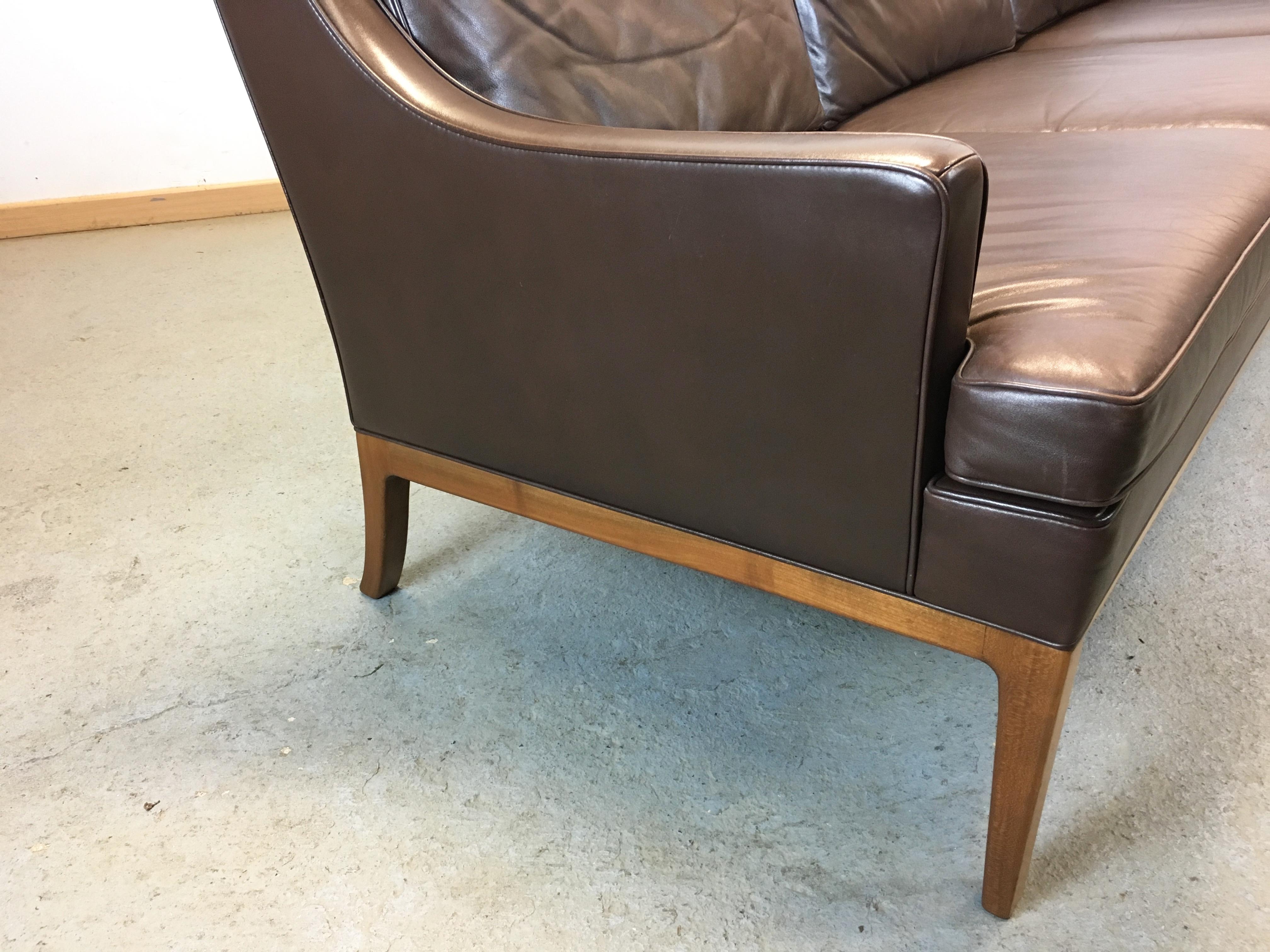 canap cuir ann e 60 leather sofa by rudolf b glatzel for kill international. Black Bedroom Furniture Sets. Home Design Ideas