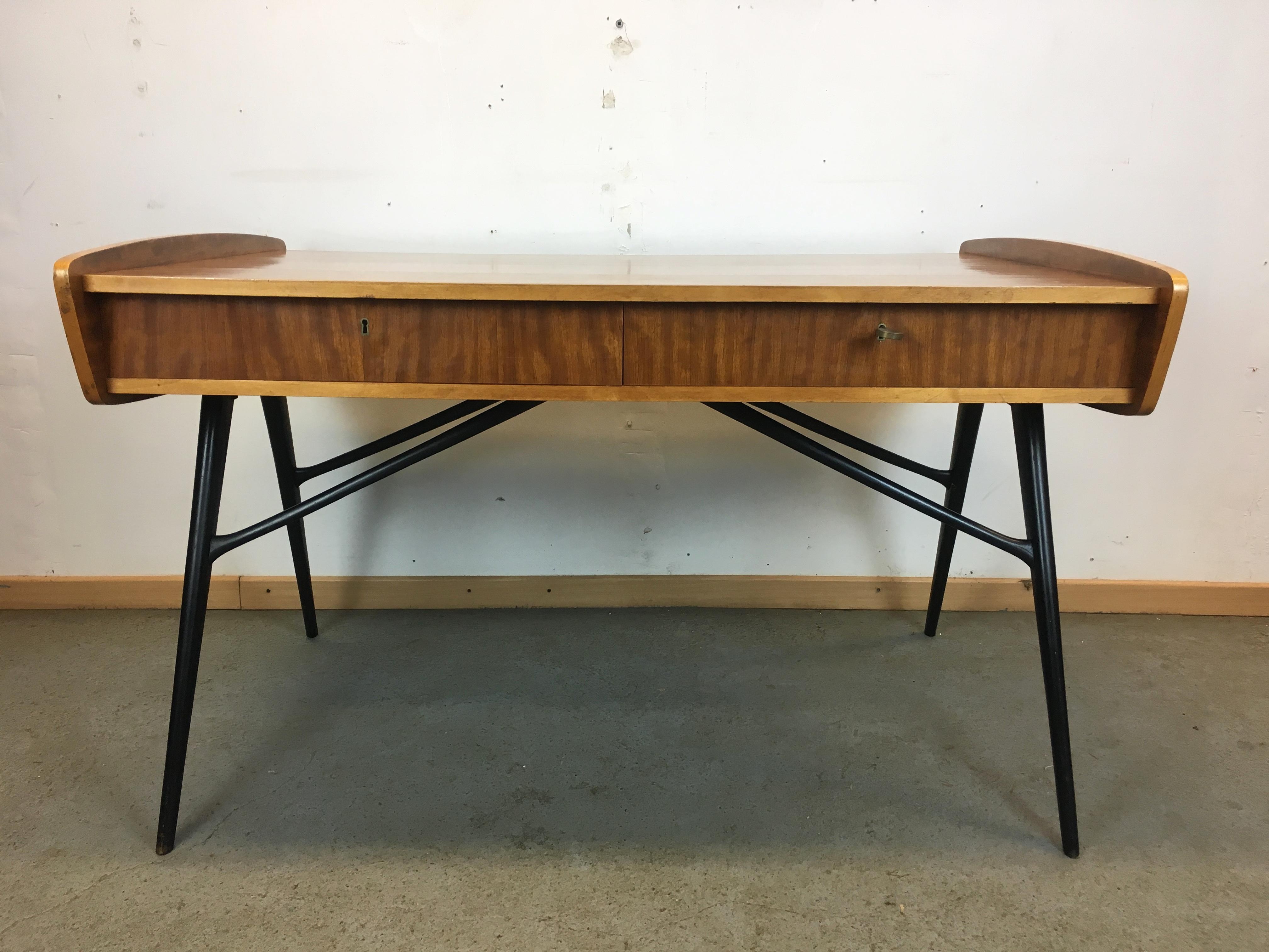 bureau ann e 50 desk alfred hendrickx for belform 50 s. Black Bedroom Furniture Sets. Home Design Ideas