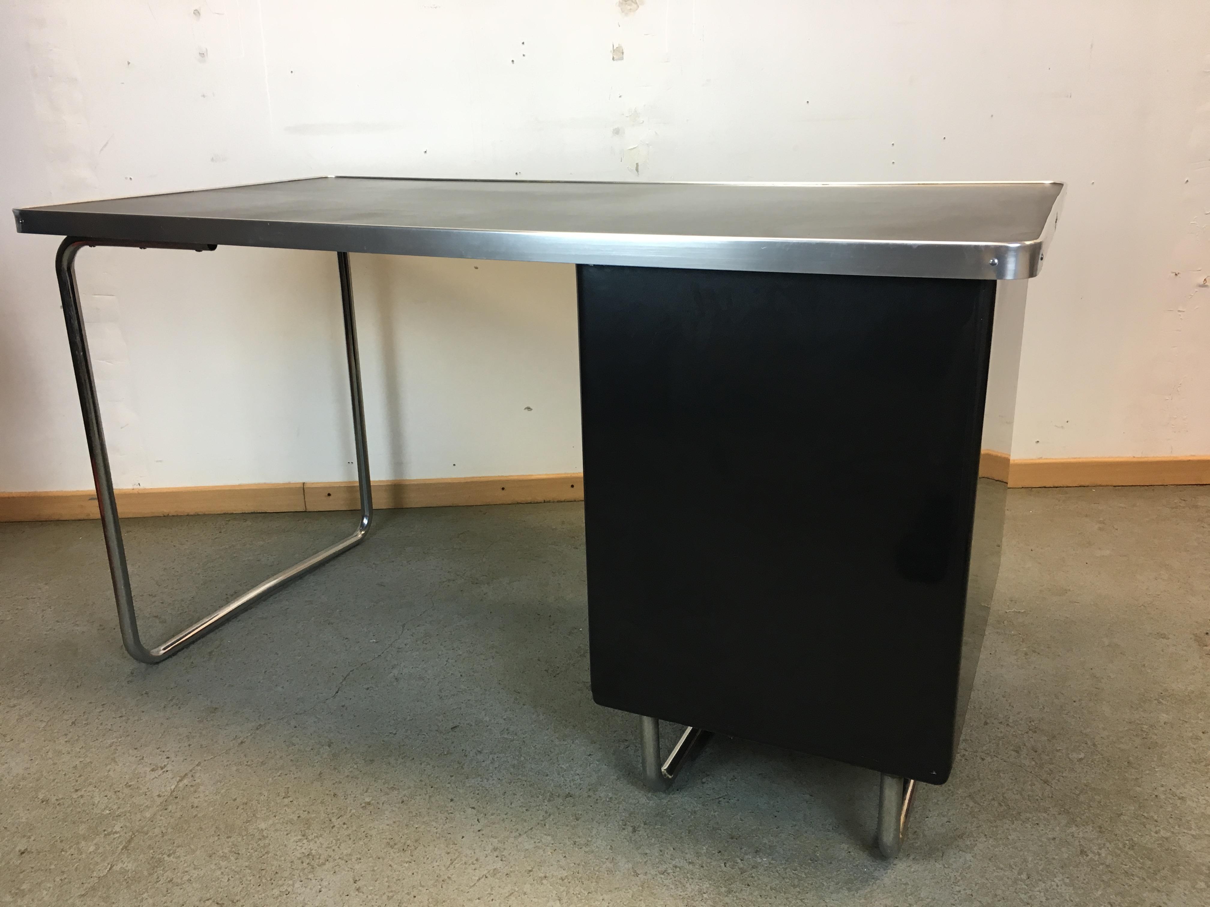 bureau industriel mauser ann e 50 vintage desk mauser industrial 1950 s. Black Bedroom Furniture Sets. Home Design Ideas