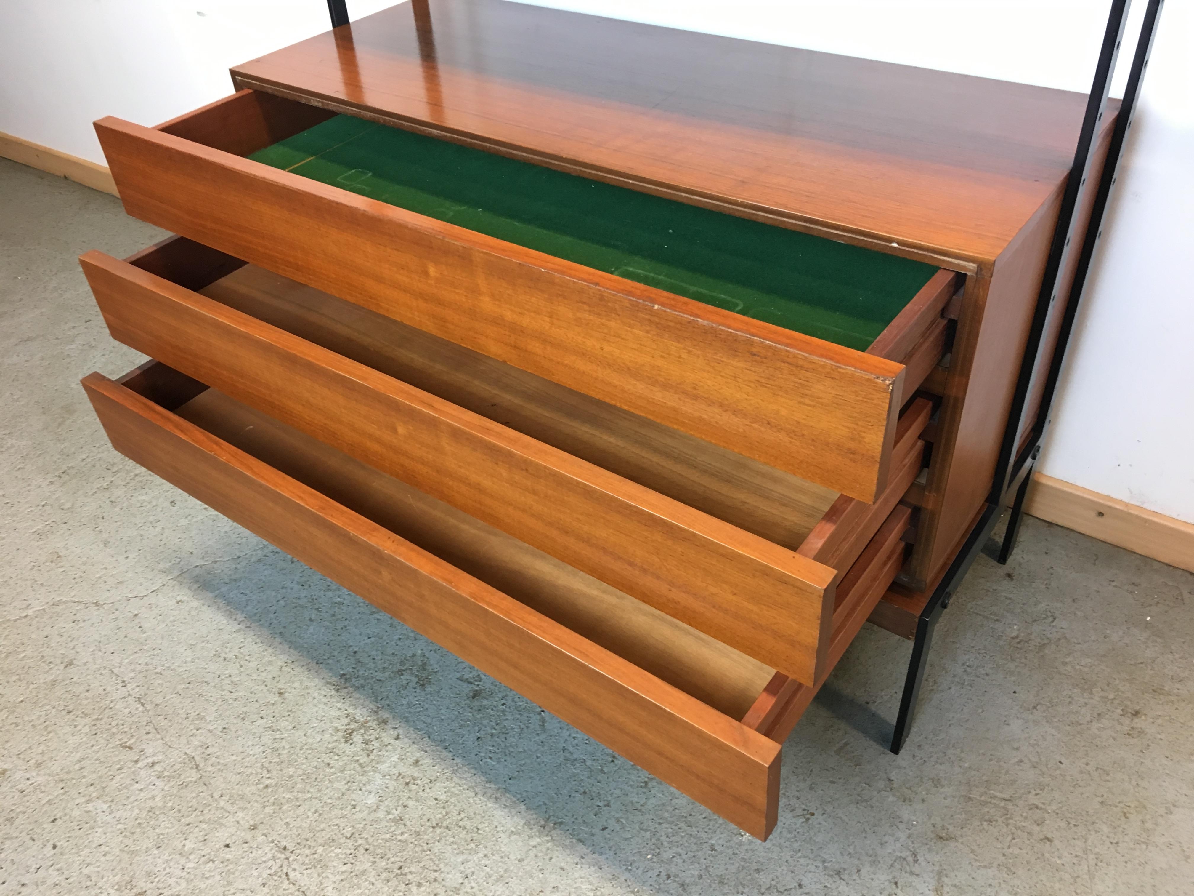 biblioth que modulable ann e 60 vintage wall unit system switzerland 60 s. Black Bedroom Furniture Sets. Home Design Ideas