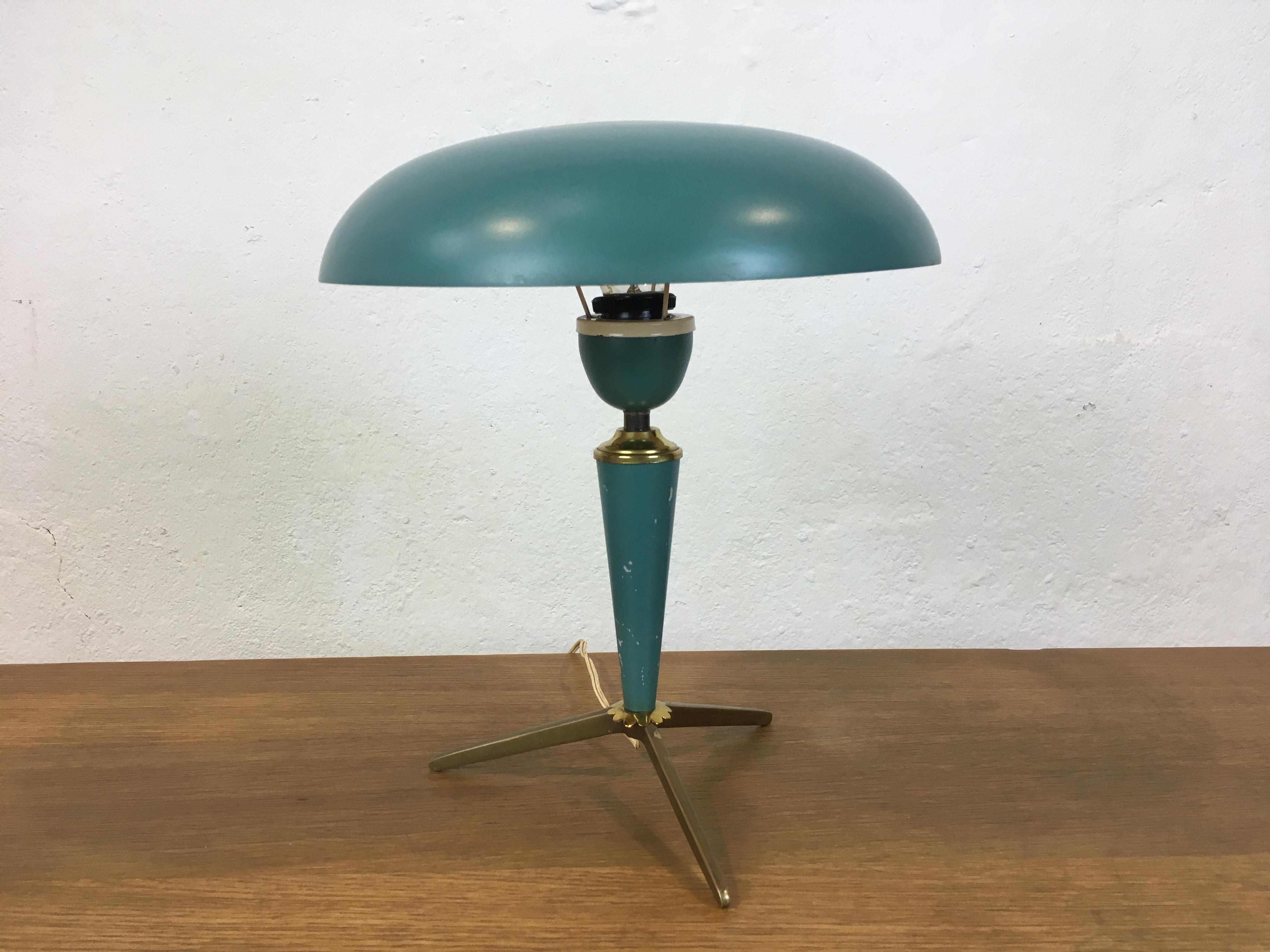 lampe de table louis kalff philips ann e 50 desk lamp philips kalff 1950 s. Black Bedroom Furniture Sets. Home Design Ideas