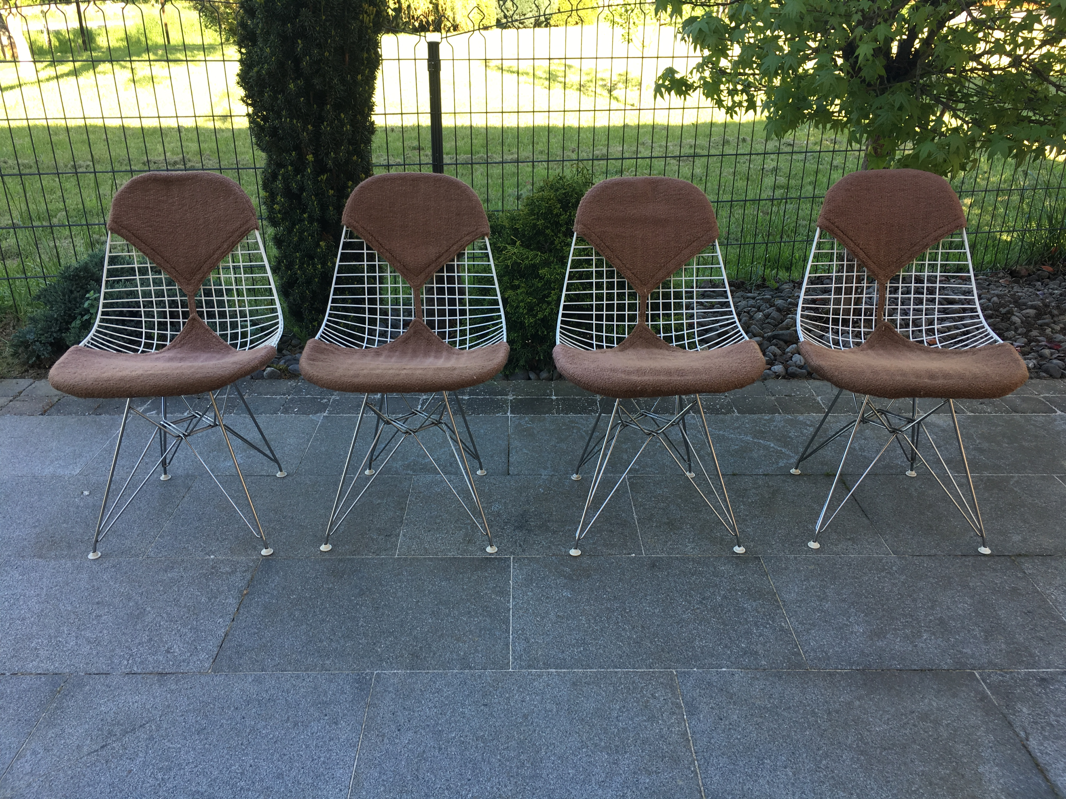 4 Chaises Eames Herman Miller DKR2 1950 Set Of 4 Dining Chair Eames