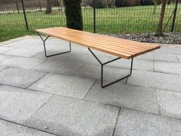 Banc à Latte Harry Bertoia Slat Bench For Knoll Wood 1950s